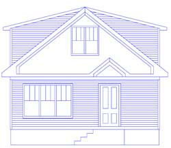 Elevation drawing of a remodeling project.