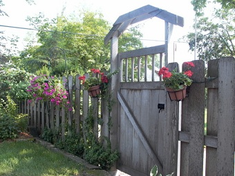 Privacy Fencing with hand crafted gate