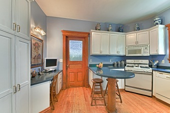Remodeled Kitchen with hand crafted door