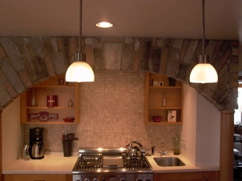 Kitchen Remodel showcasing stone work