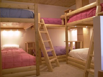 Basement Remodel with hand crafted bunkbeds