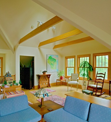 Attic Remodel with natural light